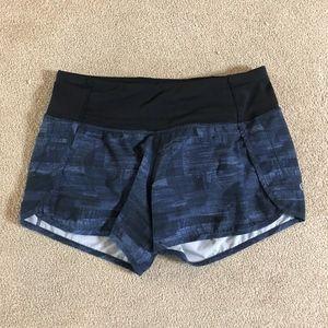Black & Blue Lululemon Running Shorts